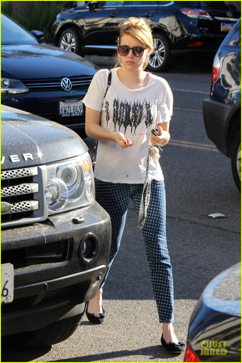 emma roberts promotes earth day 4 22 10