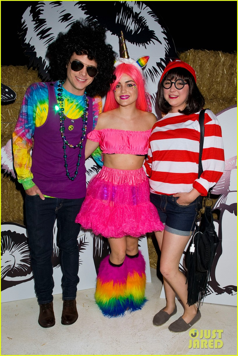 lucy hale chris zylka just jared halloween party 01