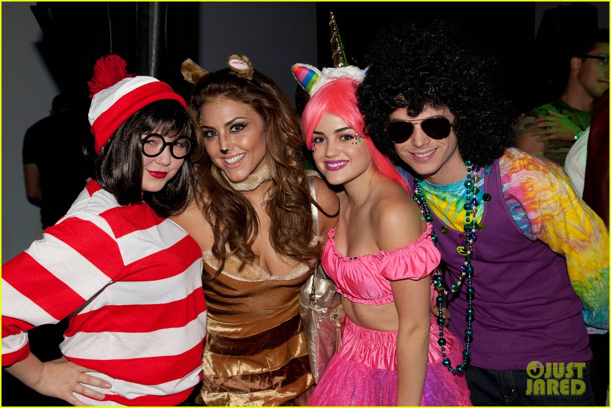 lucy hale chris zylka just jared halloween party 042747594