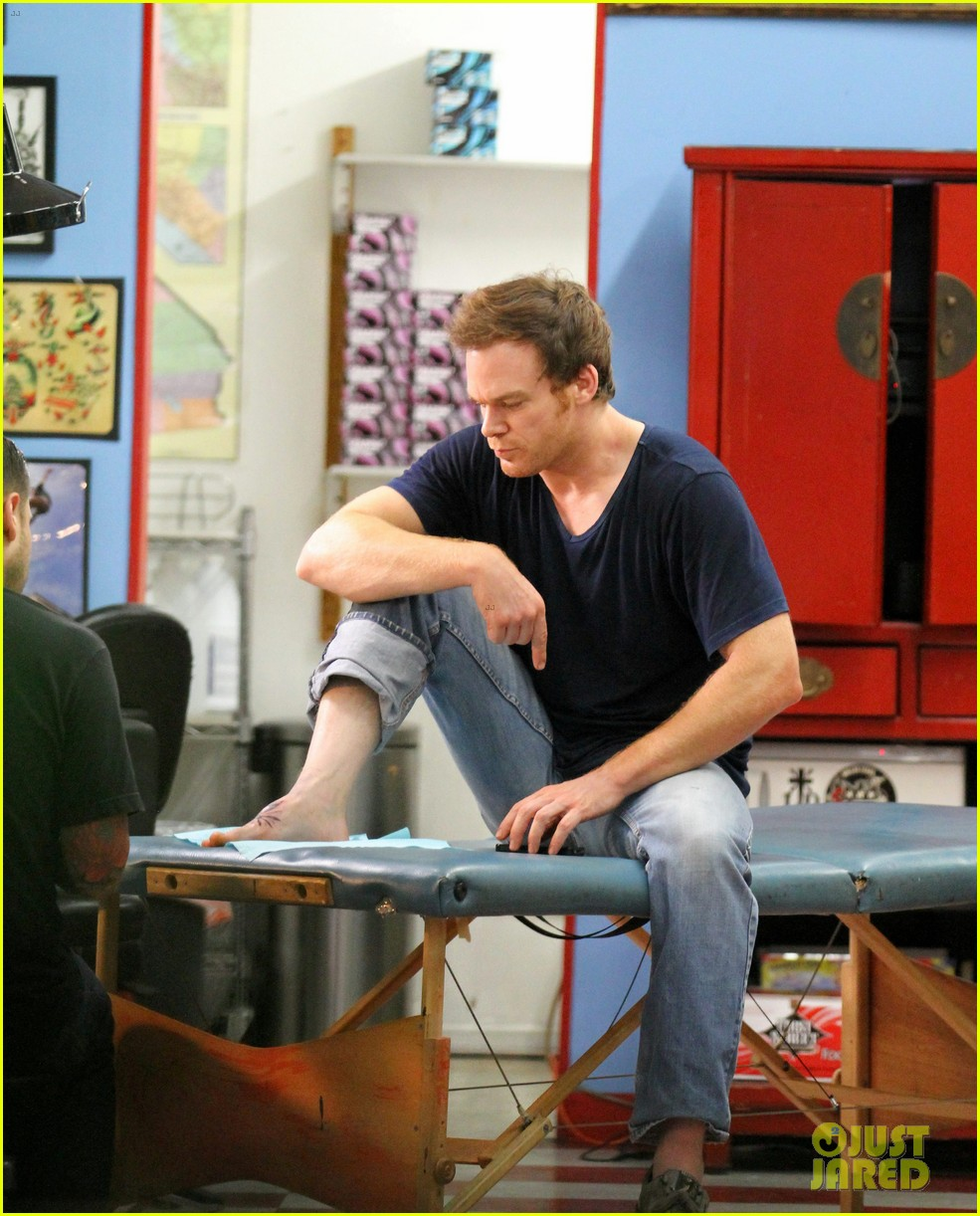 michael c hall gets new foot tattoo 132731826