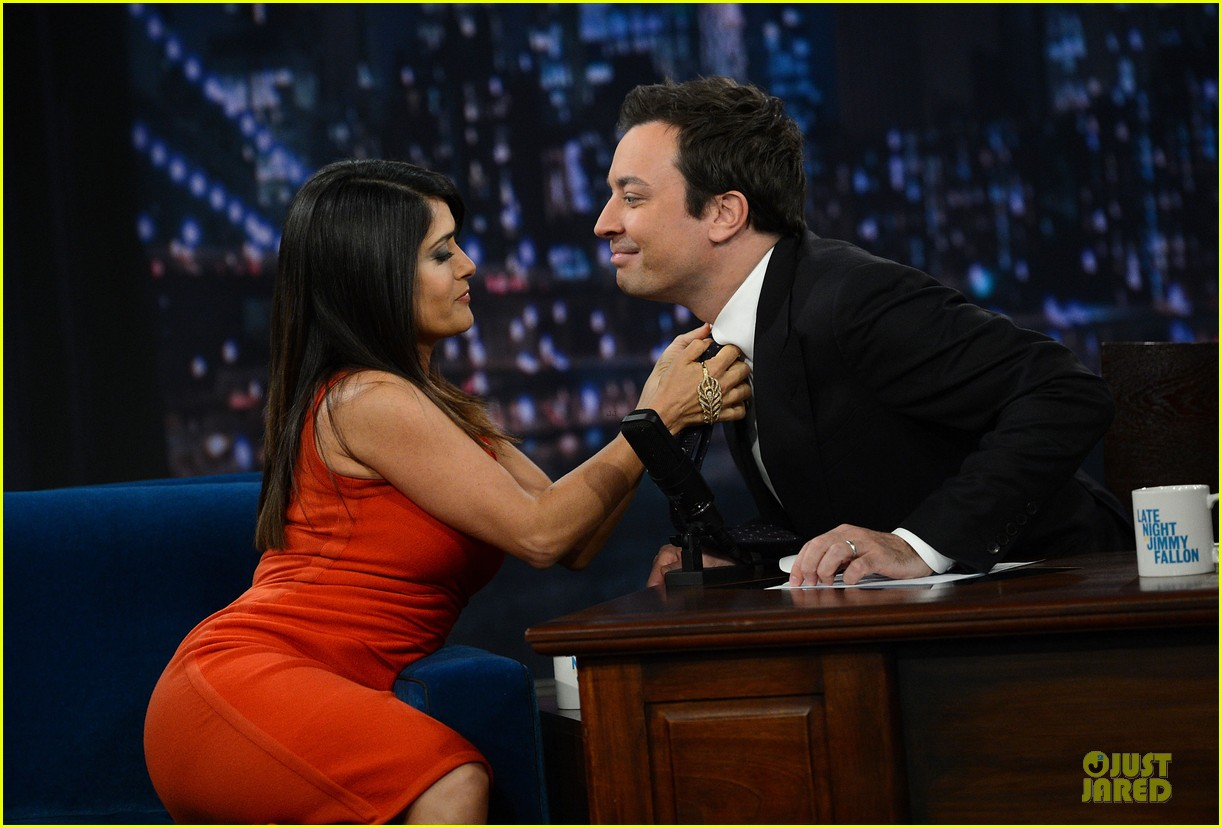 salma hayek late night with jimmy fallon appearance 042737340