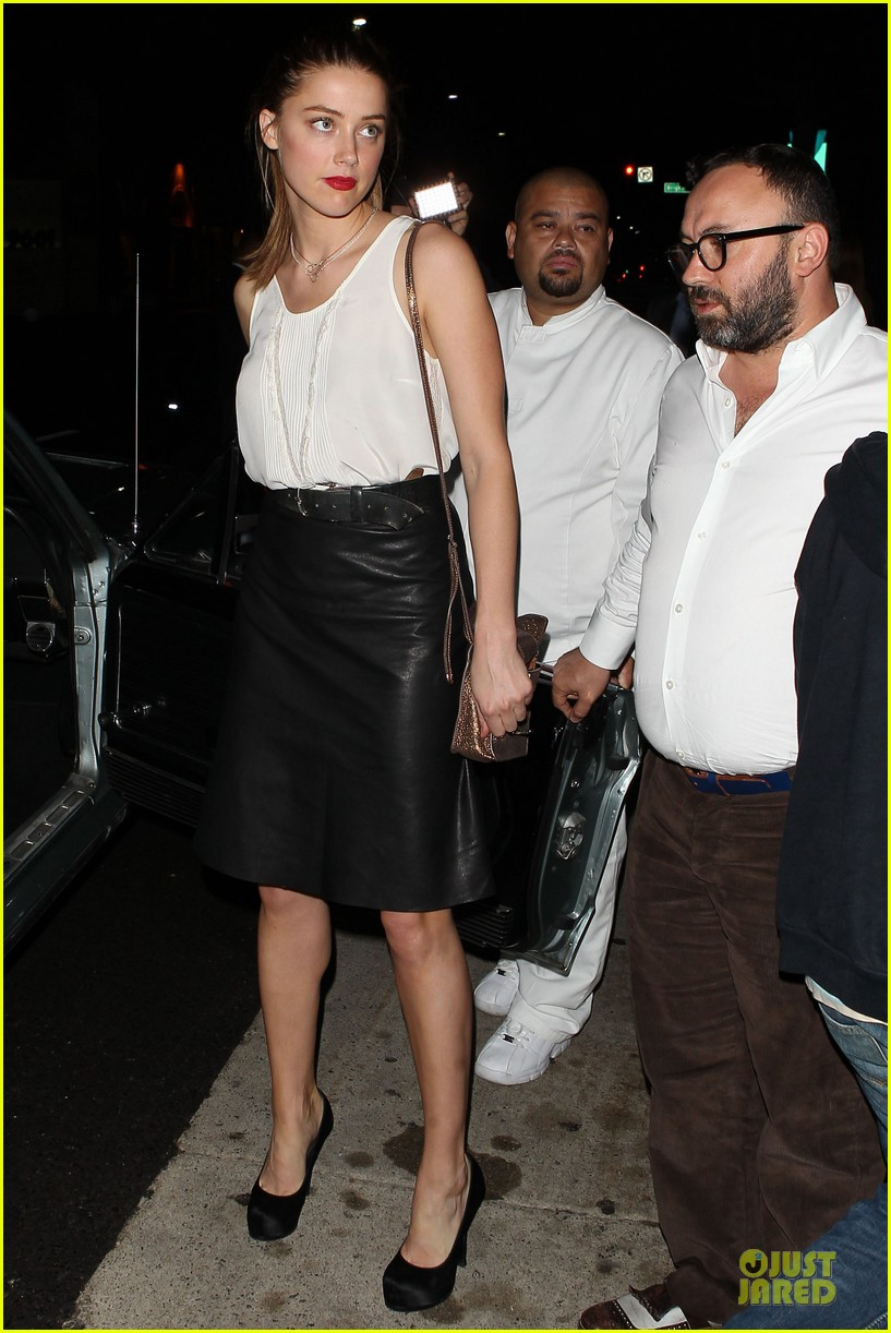 amber heard mr.chow restaurant stop 13