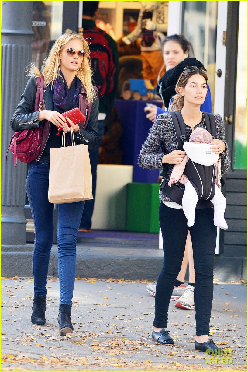 erin heatherton lily aldridge daughter dixie is godchild 01