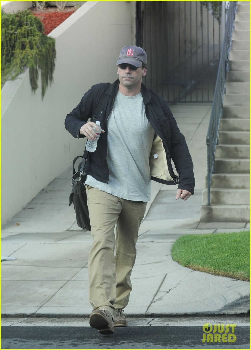 christina hendricks jon hamm separate los angeles outings 03