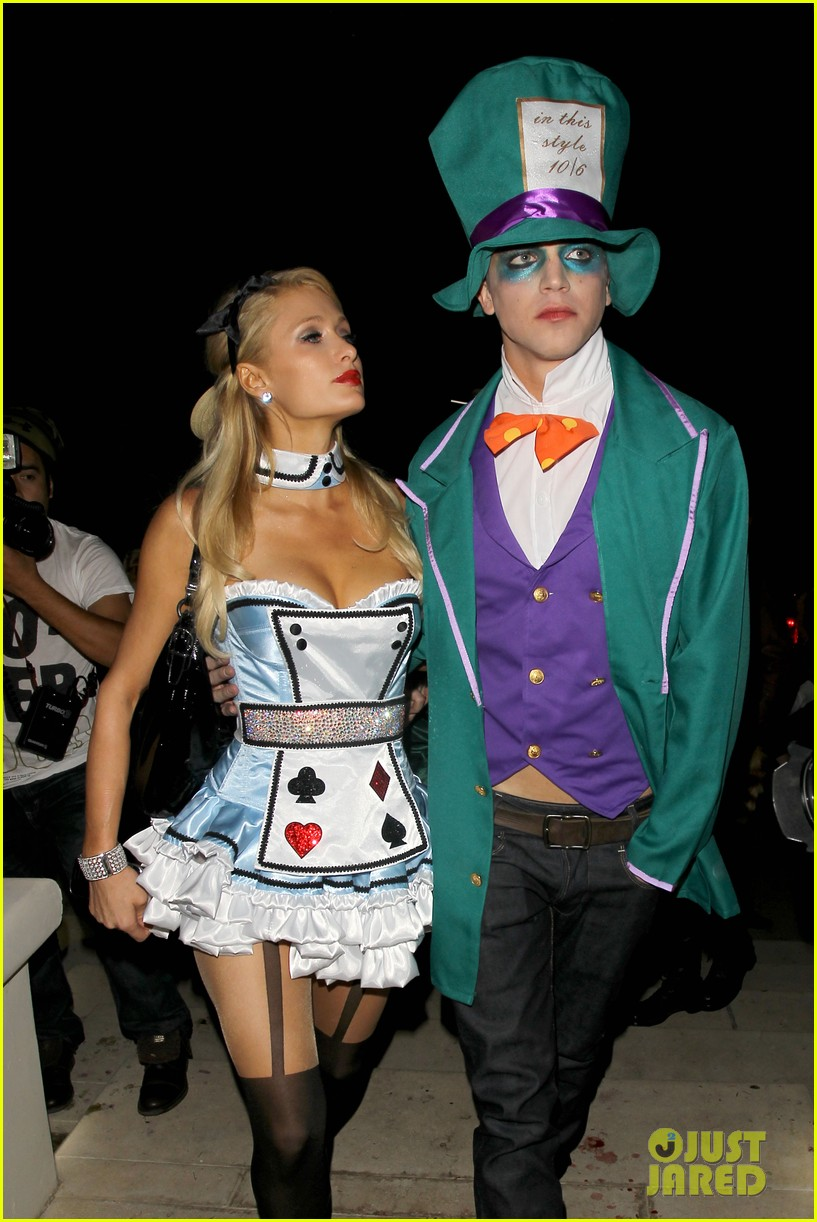 paris hilton river vilperi halloween party pair 14