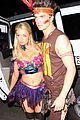 paris hilton river vilperi halloween party pair 04