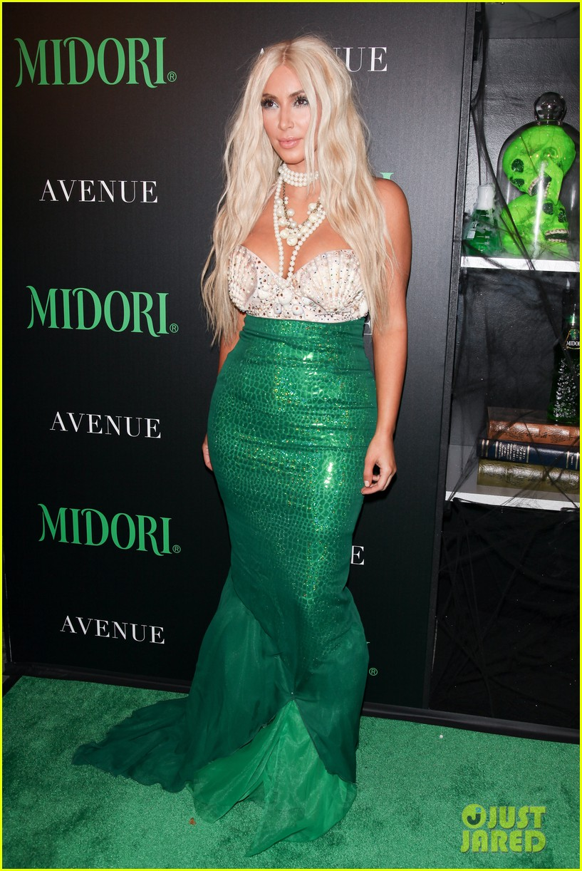 kim kardashian kanye west mermaid sailor for halloween 01
