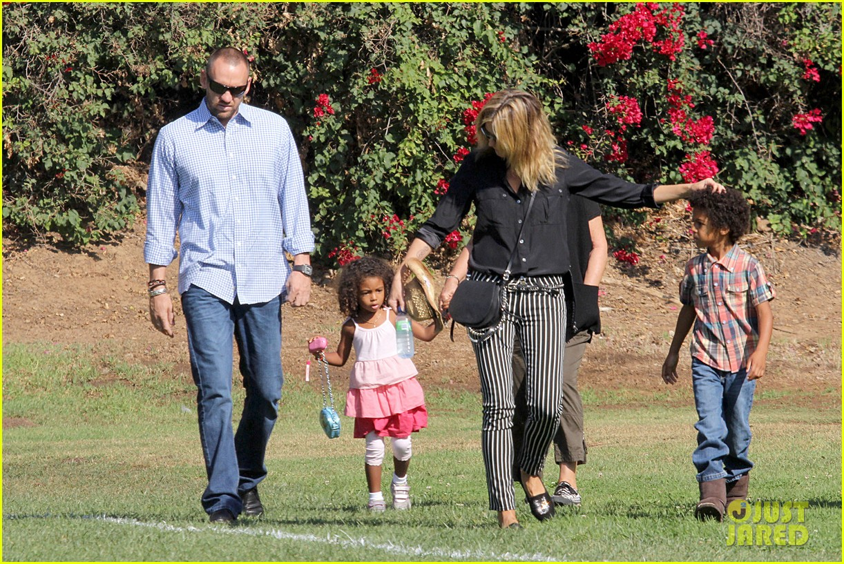heidi klum soccer game with family 12