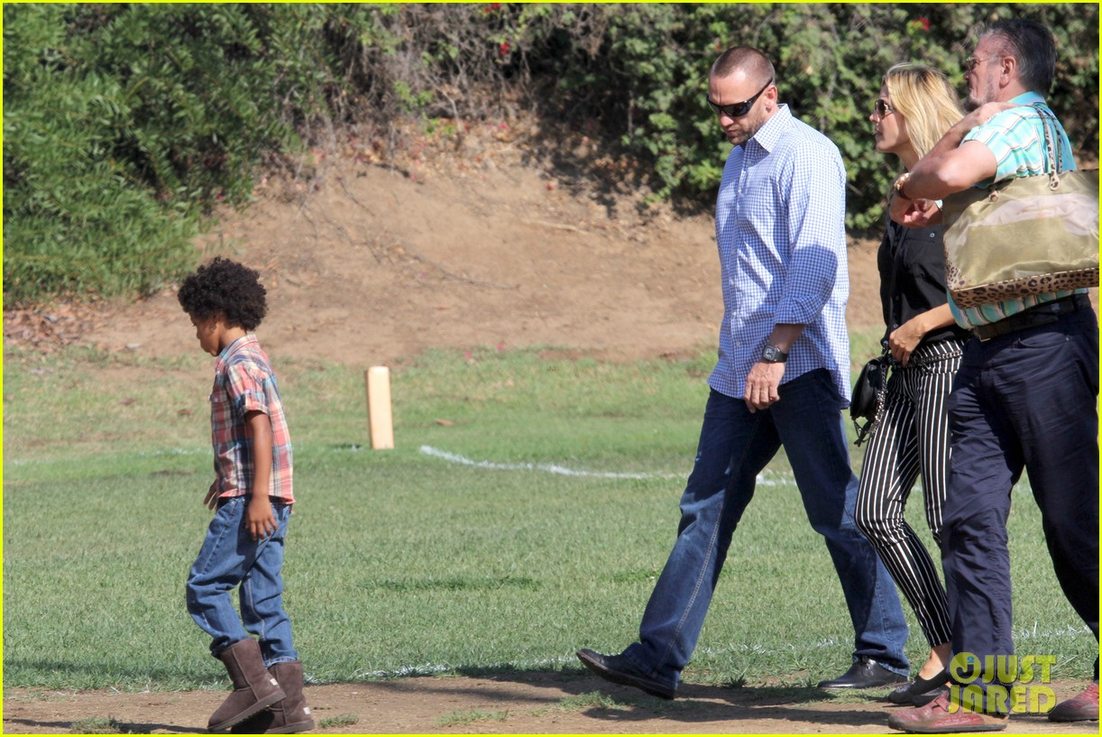 heidi klum soccer game with family 27