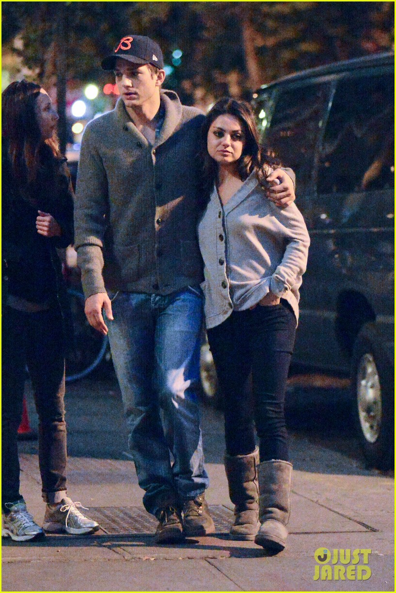 ashton kutcher mila kunis west village dinner date 05
