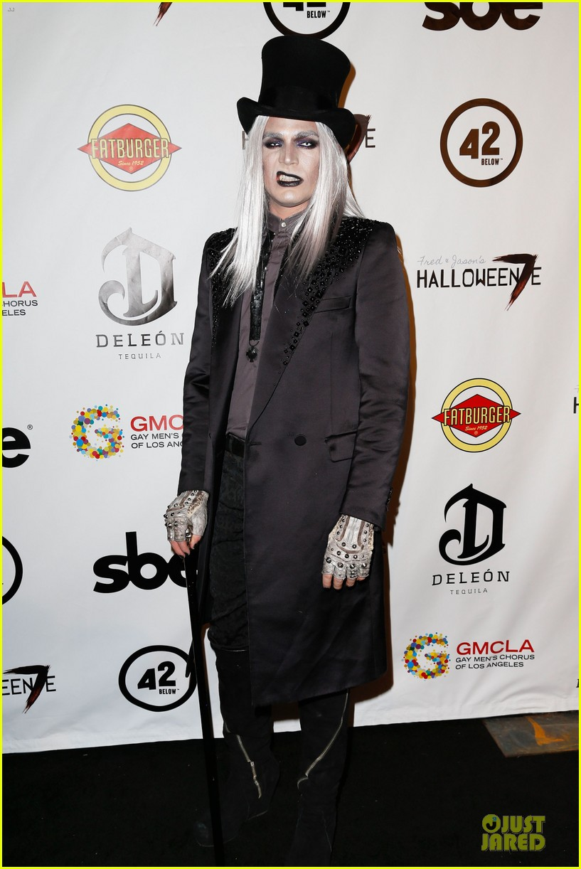 adam lambert sauli koskinen glampires for halloween charity event 03