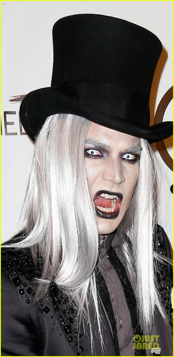 adam lambert sauli koskinen glampires for halloween charity event 04