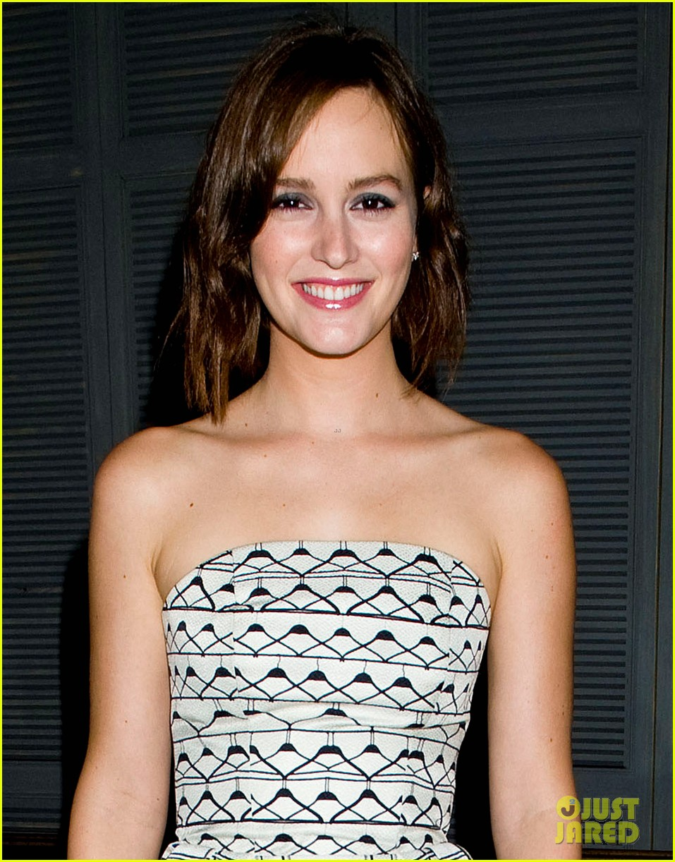 leighton meester short hair for flaunt dinner 02