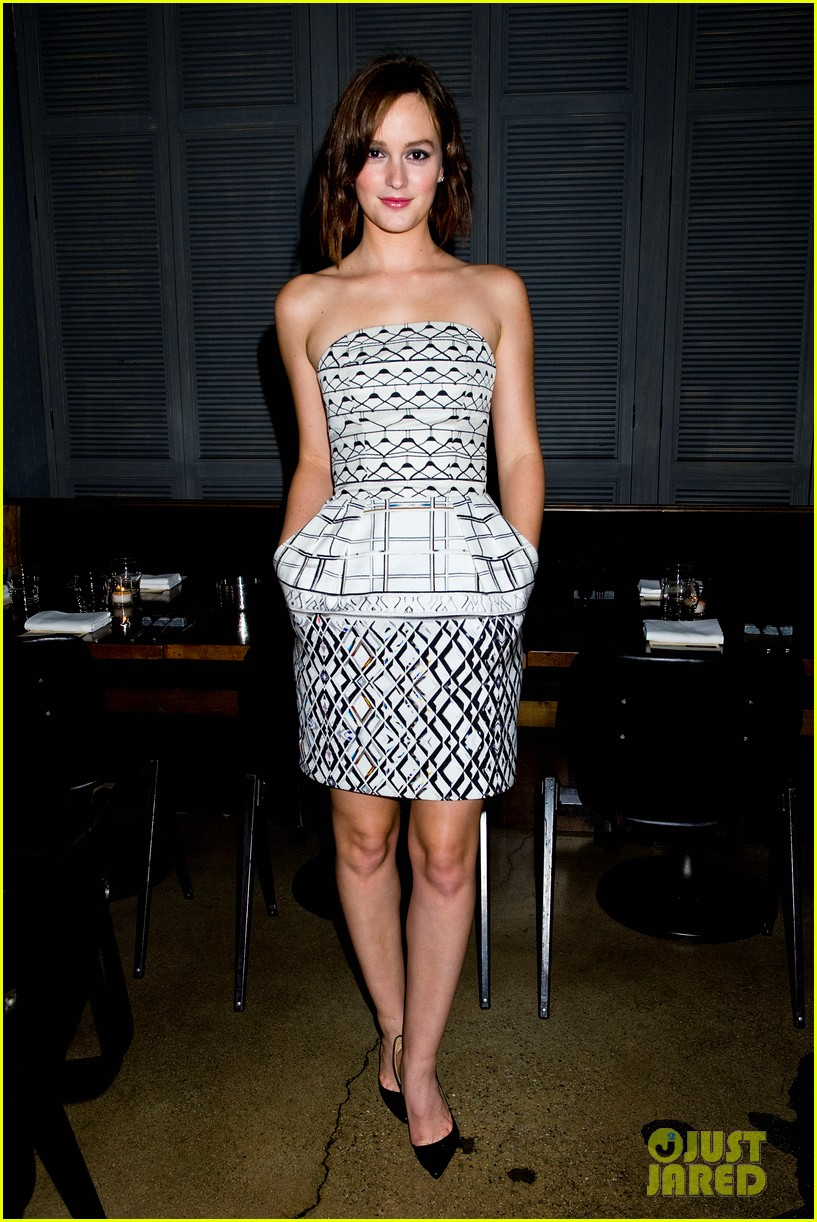 leighton meester short hair for flaunt dinner 03