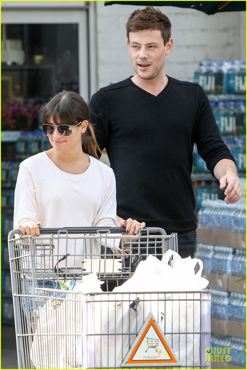 lea michele cory monteith football sunday cooking 022742243
