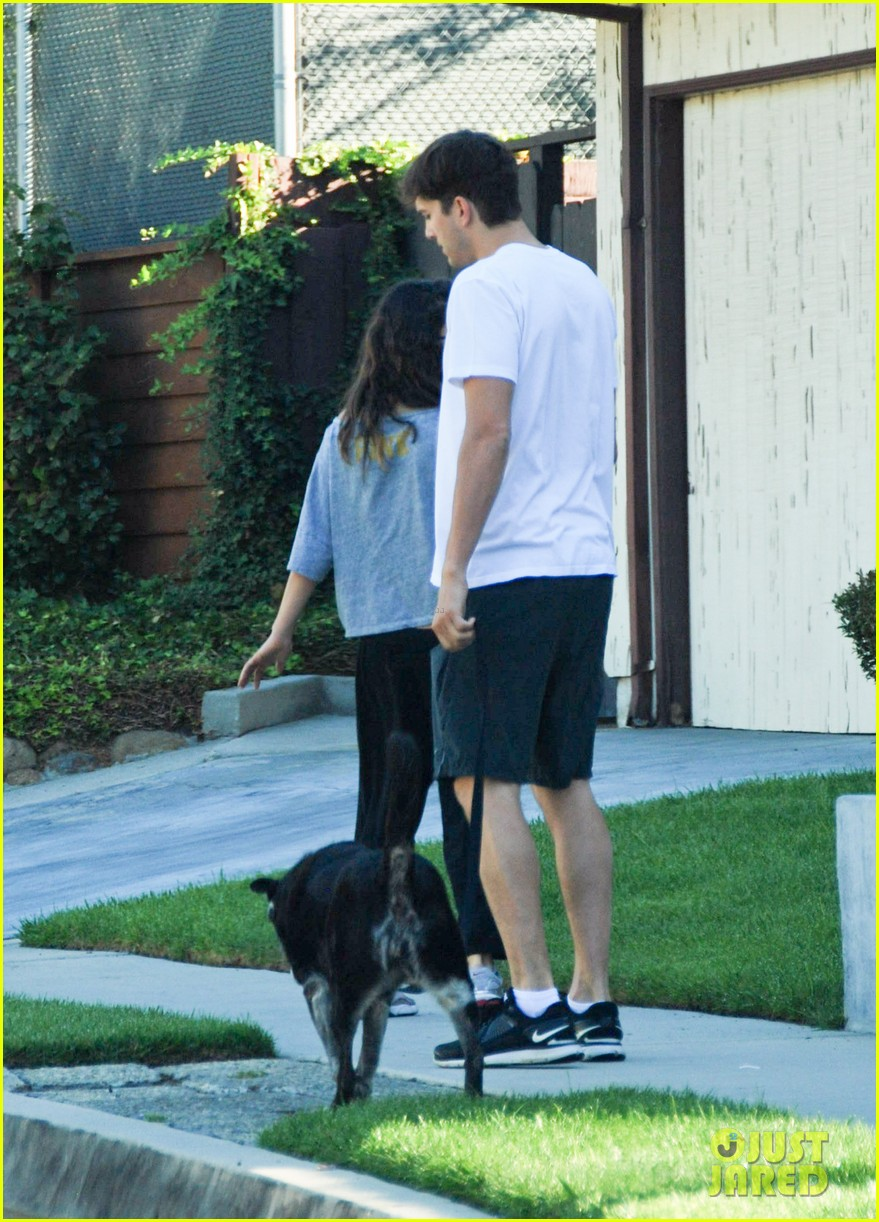 mila kunis ashton kutcher dog walking duo 072740992