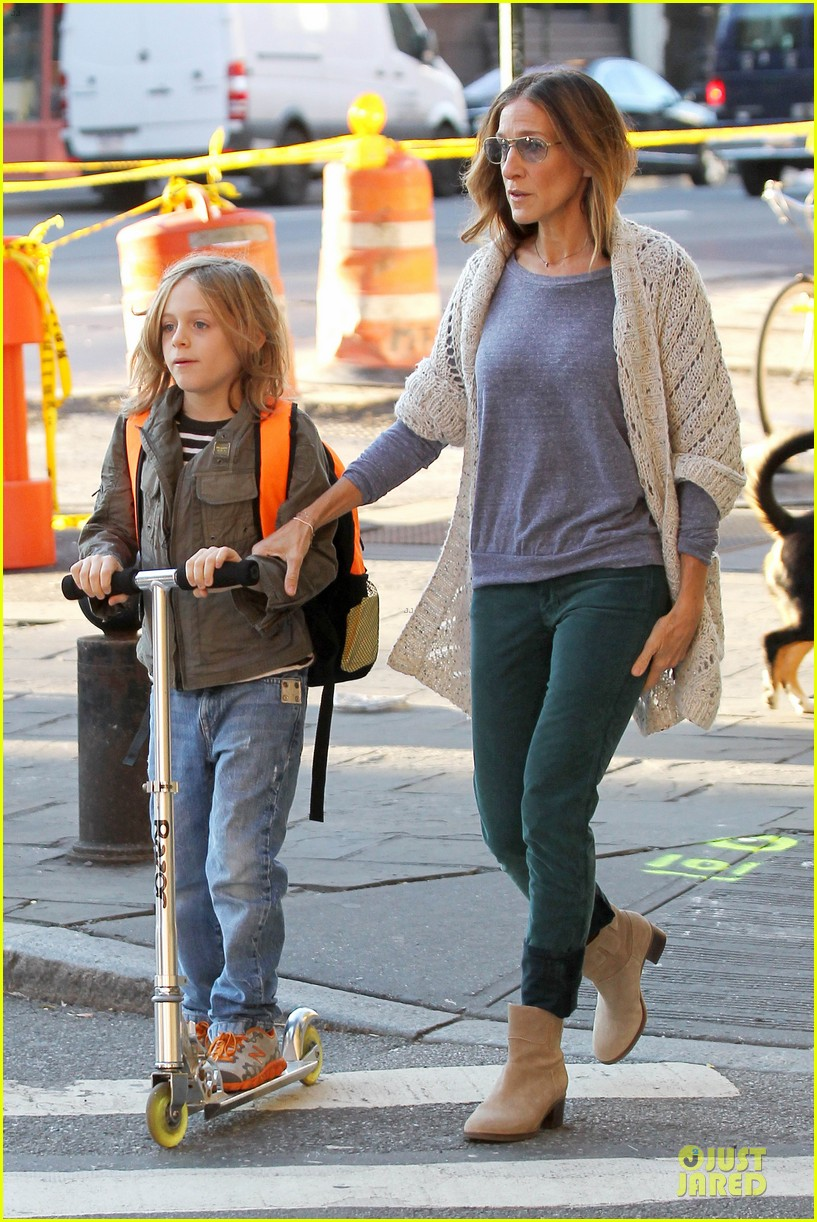 sarah jessica parker school walk with james marion tabitha 10