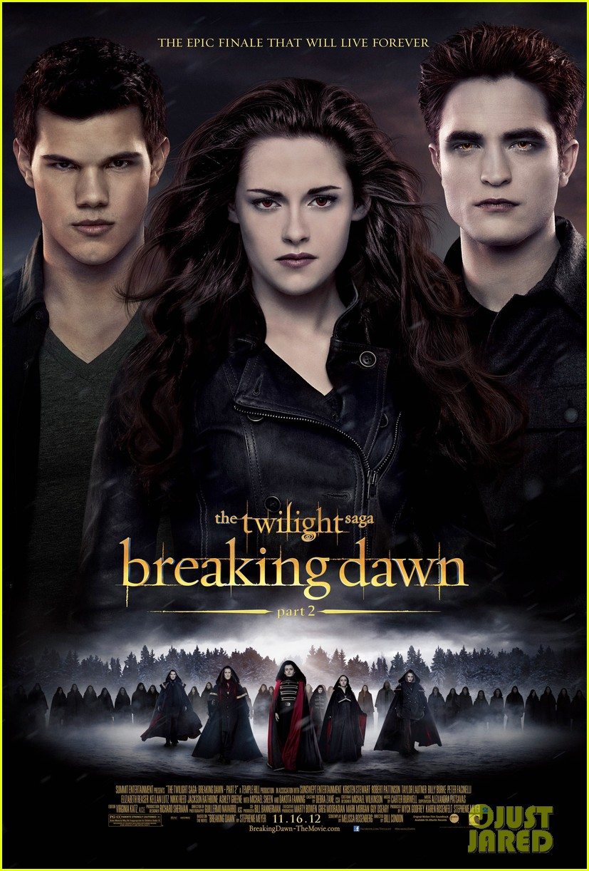 robert pattinson kristen stewart new twilight breaking dawn part 2 poster.