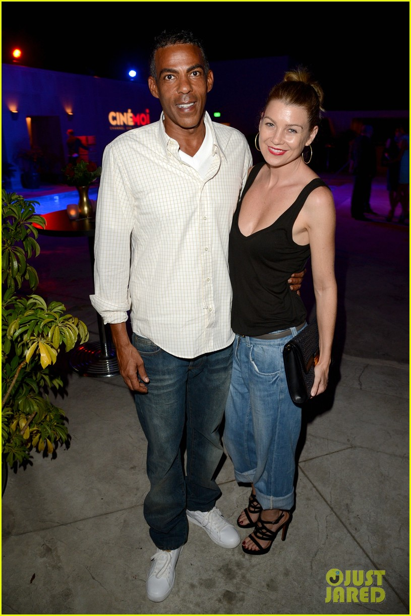 ellen pompeo cinemoi launch party with chris ivery 01