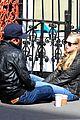 amanda seyfried desmond harrington sidewalk sitdown 03