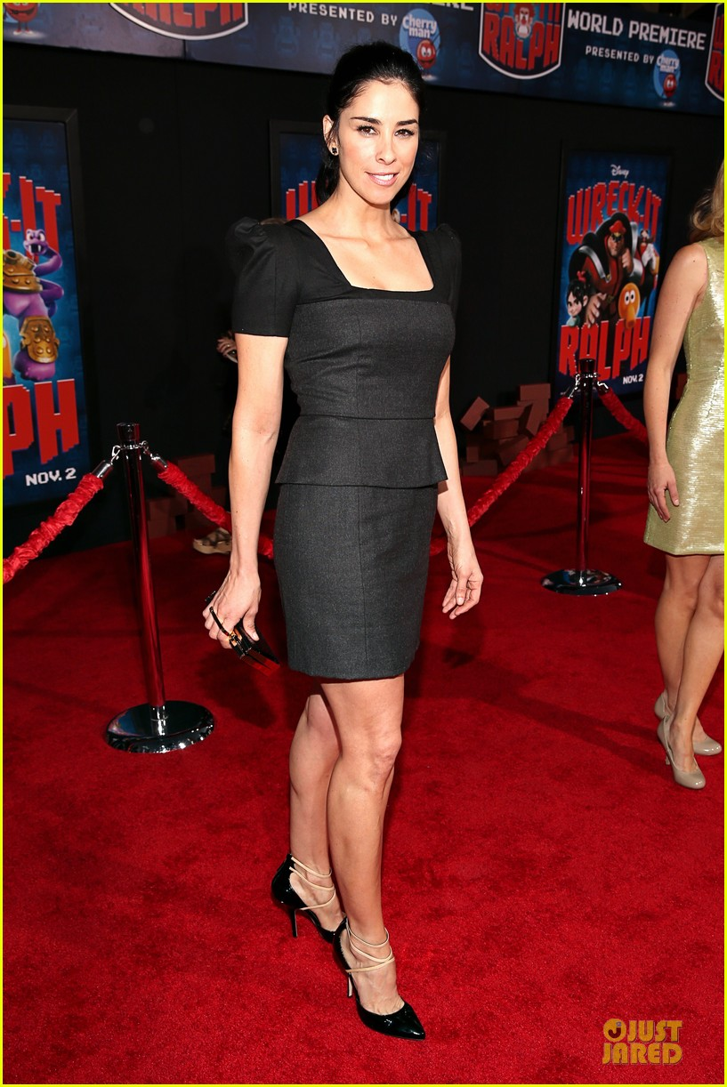 sarah silverman john c reilly wreck it ralph premiere 01