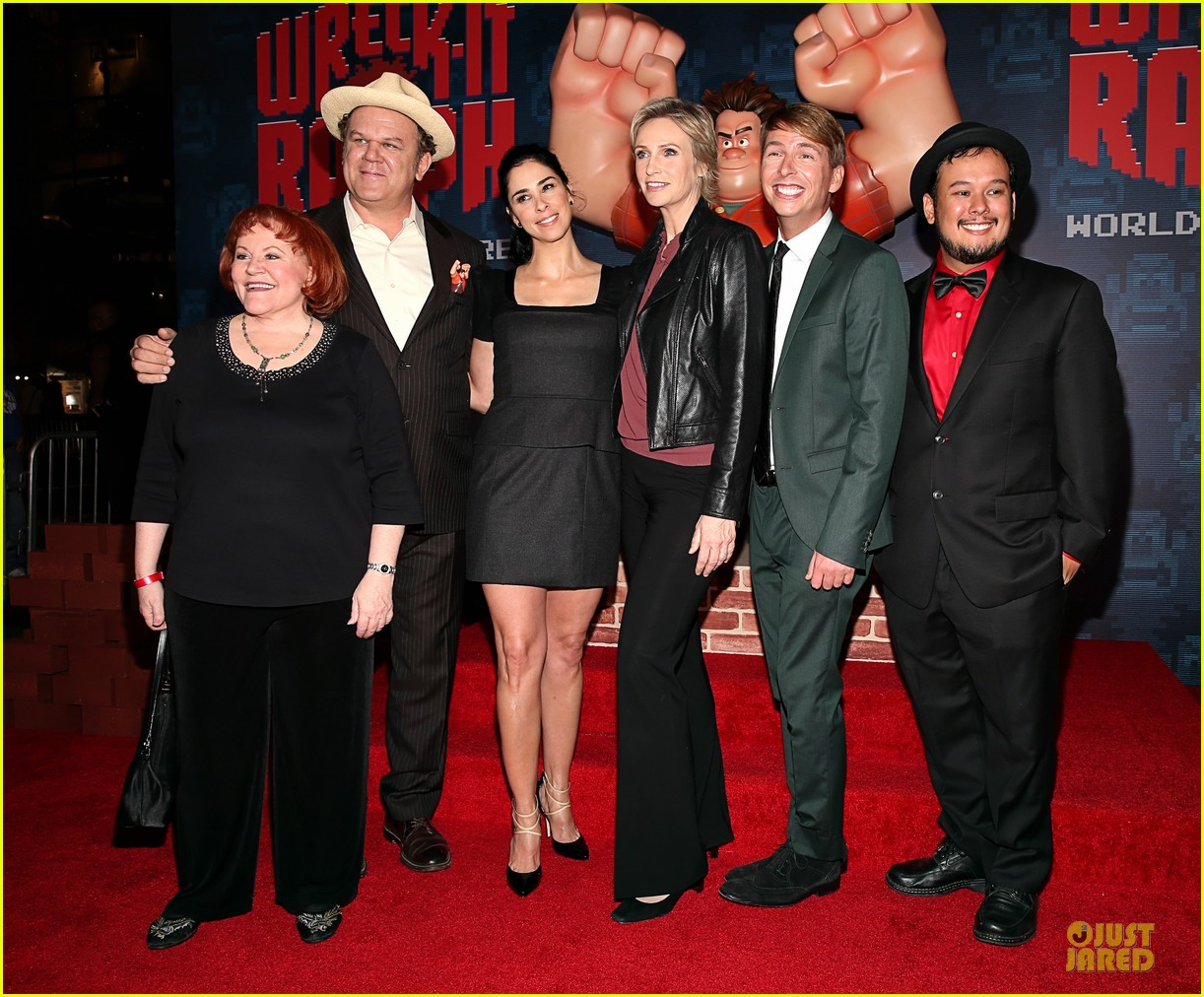 sarah silverman john c reilly wreck it ralph premiere 03
