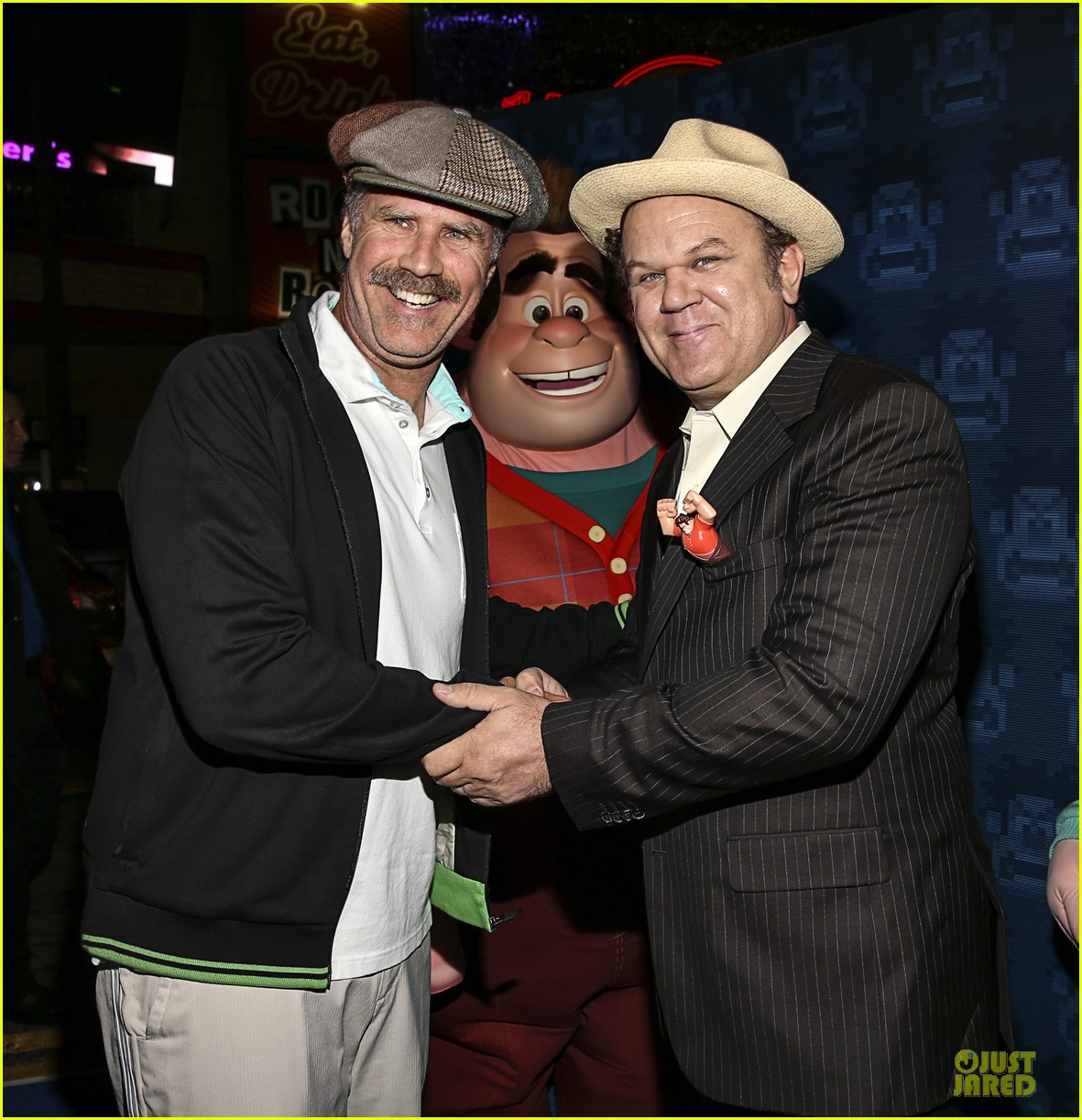 sarah silverman john c reilly wreck it ralph premiere 20