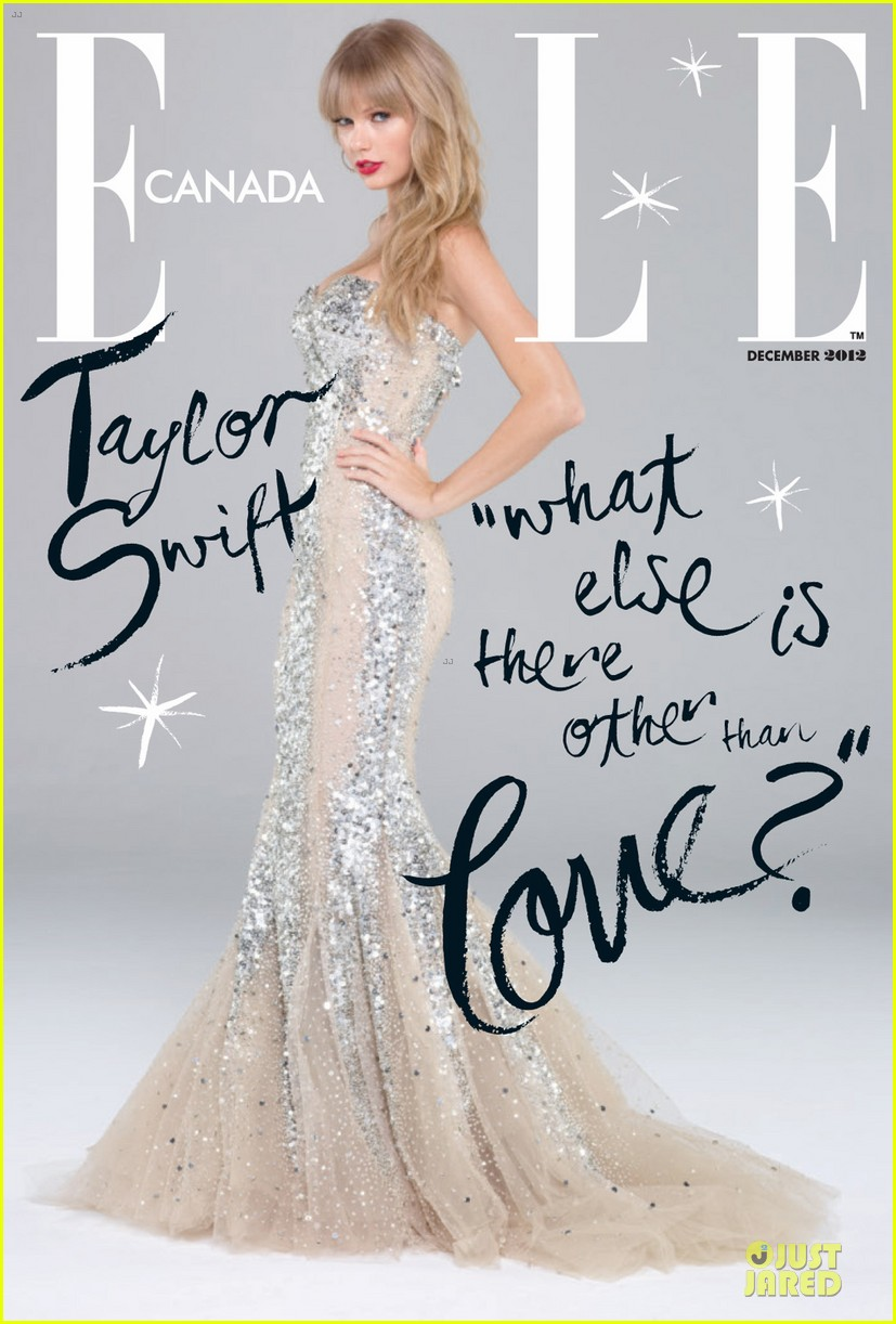 taylor swift covers elle canada december 2012 01