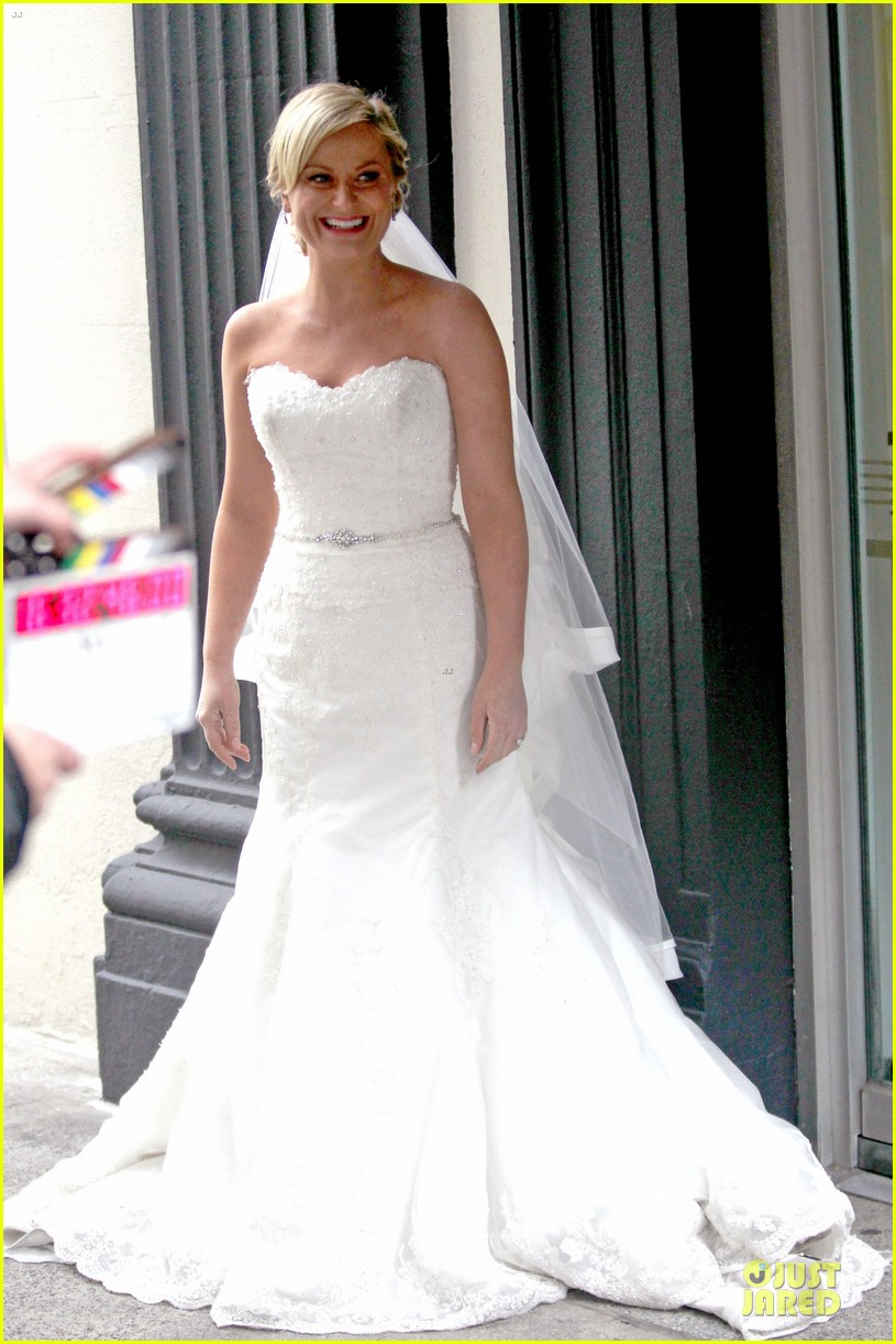 Amy Poehler Wedding Dress On They Came Together Set