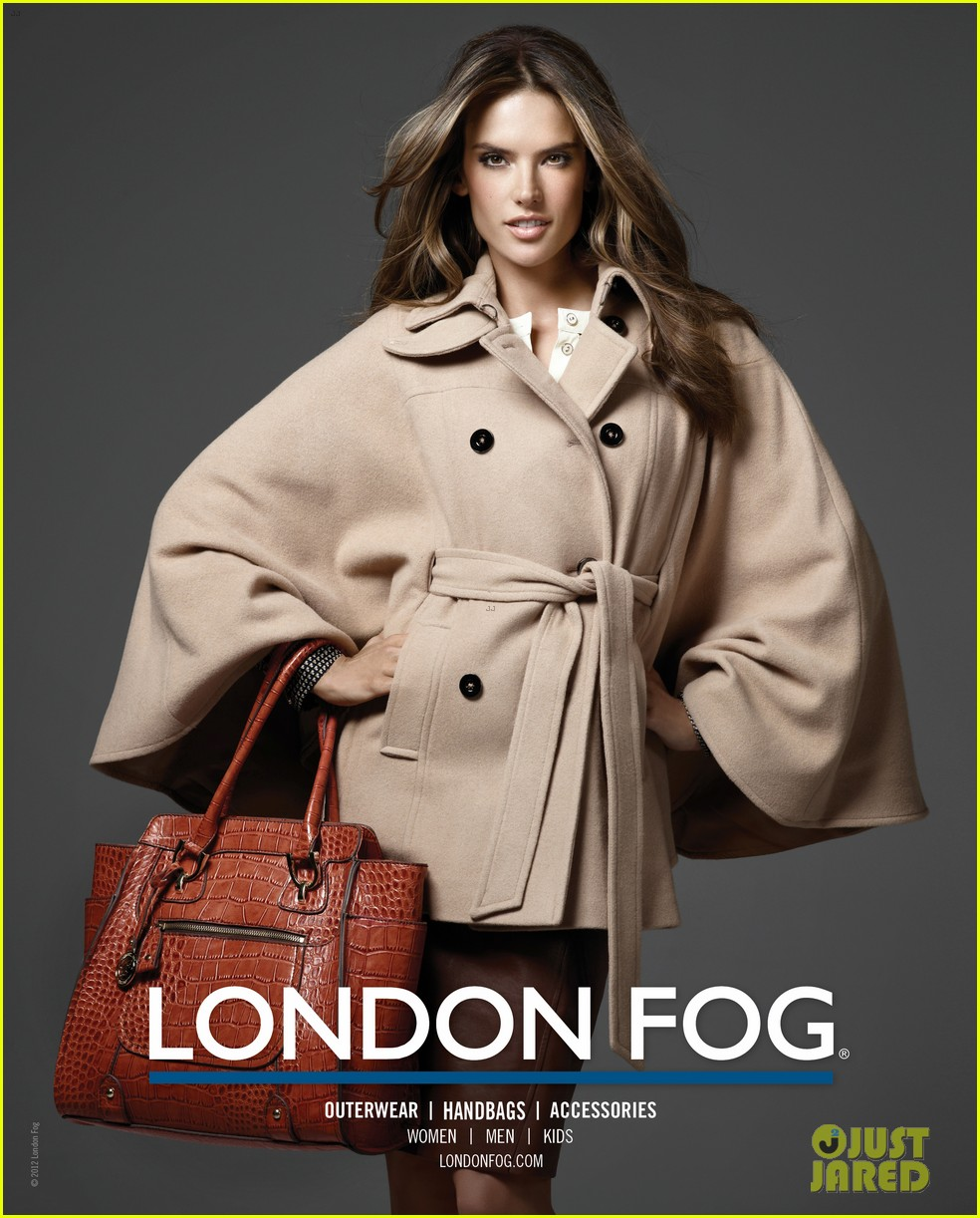 alessandra ambrosio london fog campaign with anja 082755112