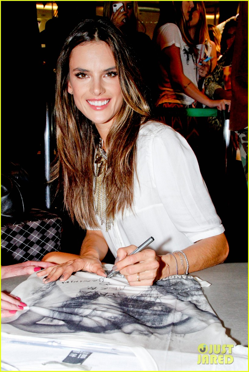 alessandra ambrosio colcci collection launch in rio 20