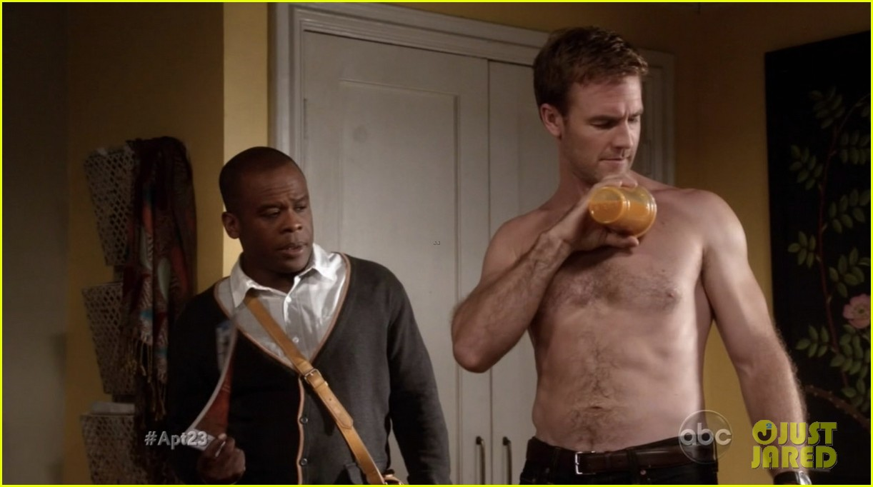 krysten ritter james van der beek goes naked for apartment 23 07