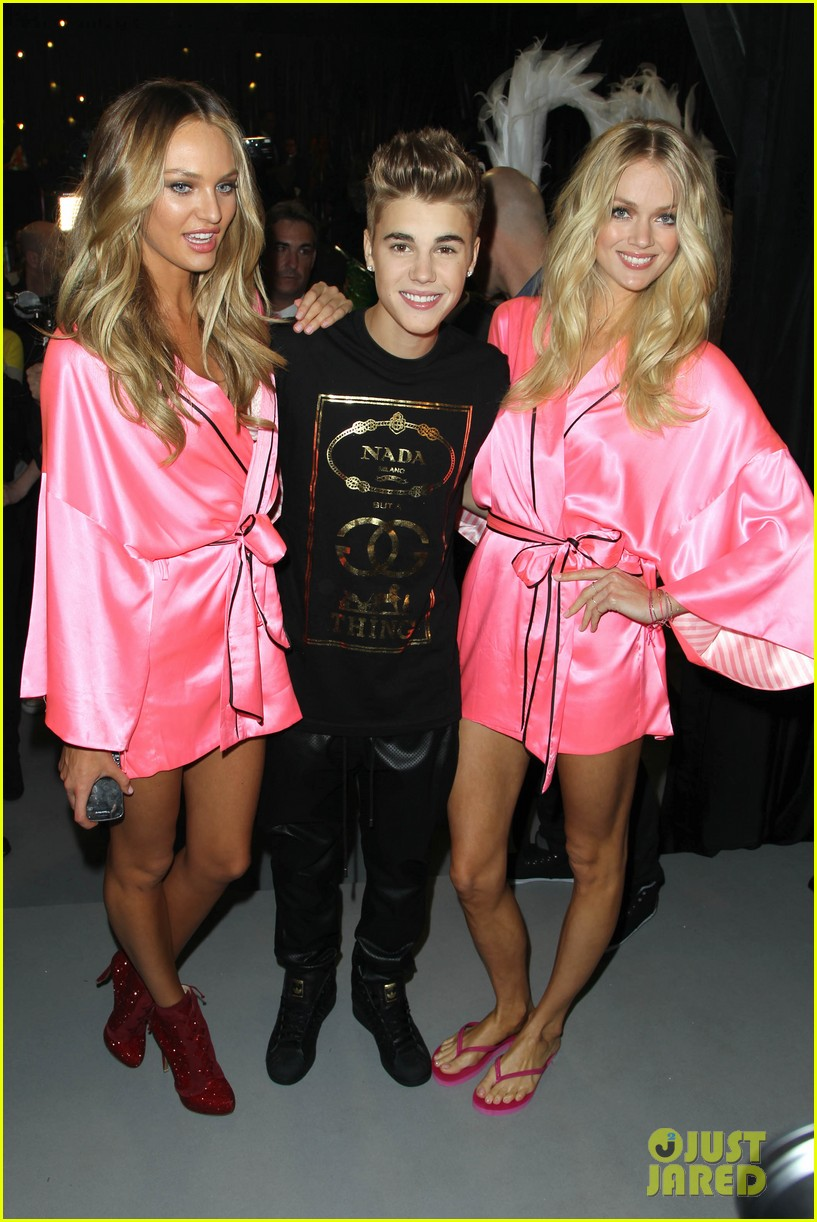 justin bieber victorias secret angels smooches 06