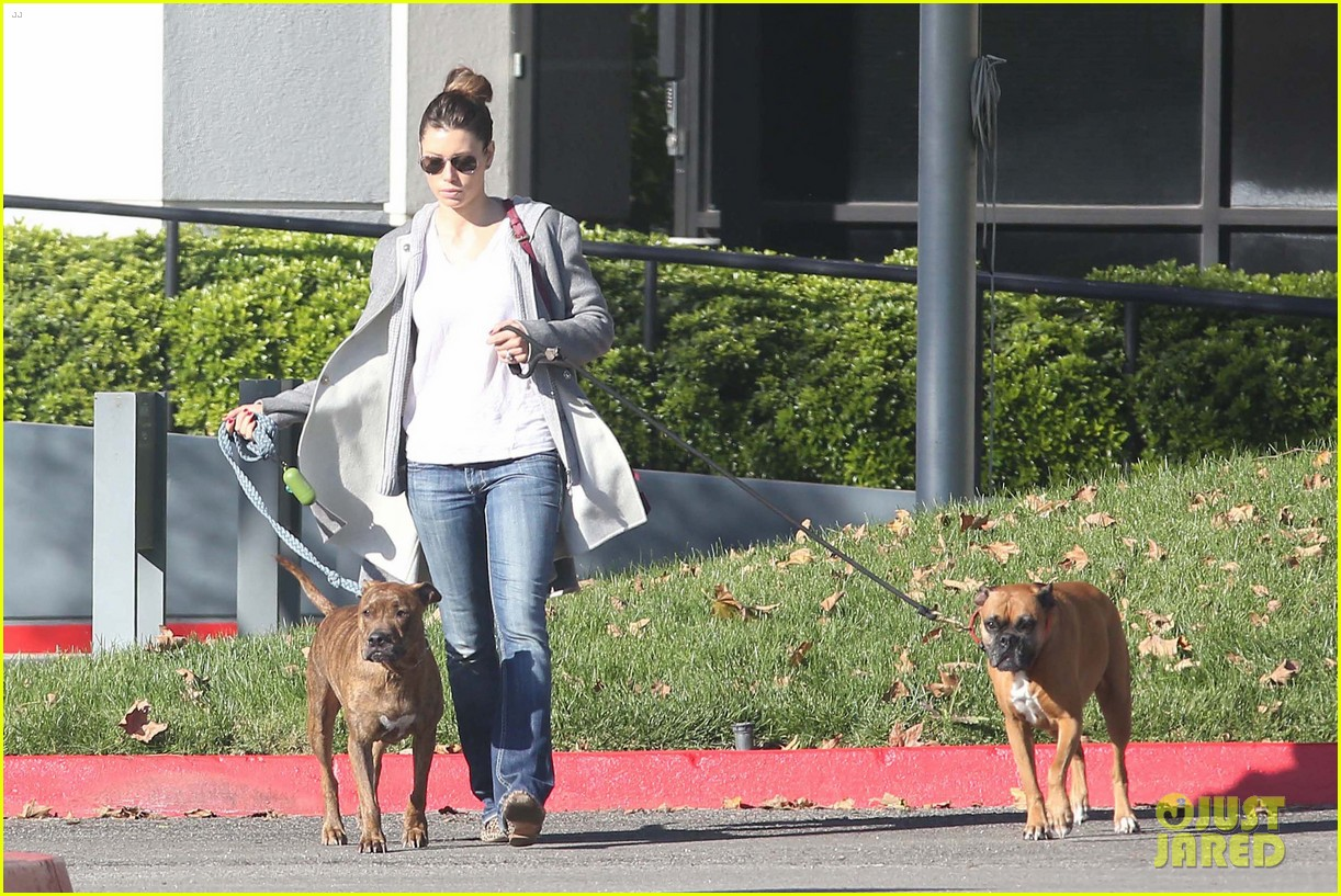 jessica biel dog walk before private plane departure 07