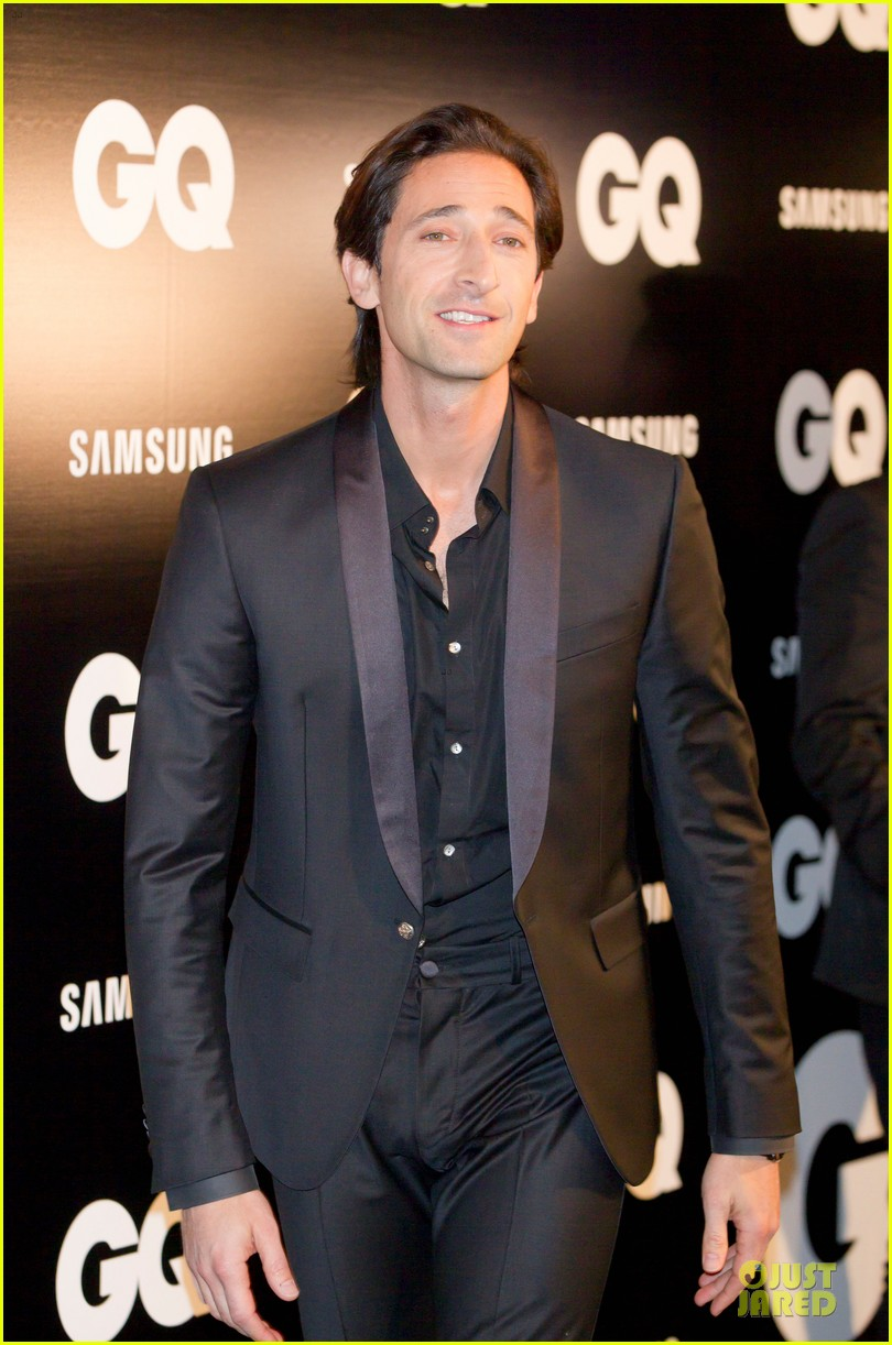 adrien brody lara lieto gq awards in madrid 10