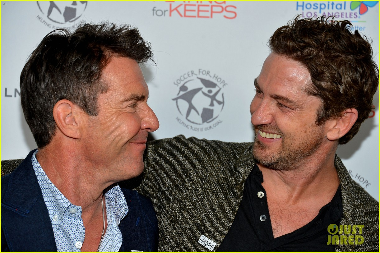 gerard butler playing for keeps childrens hospital screening 07