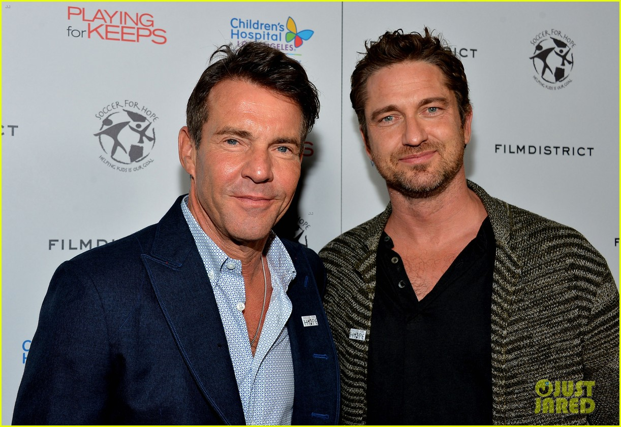 gerard butler playing for keeps childrens hospital screening 09