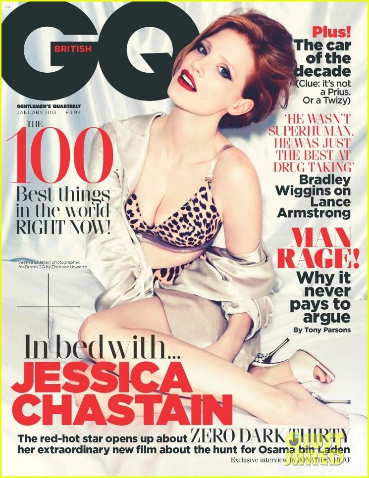 jessica chastain covers british gq january 2013 01