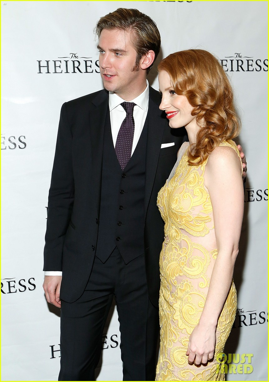 jessica chastain dan stevens heiress opening night 09