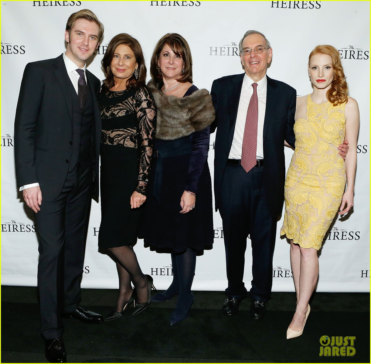 jessica chastain dan stevens heiress opening night 112749733