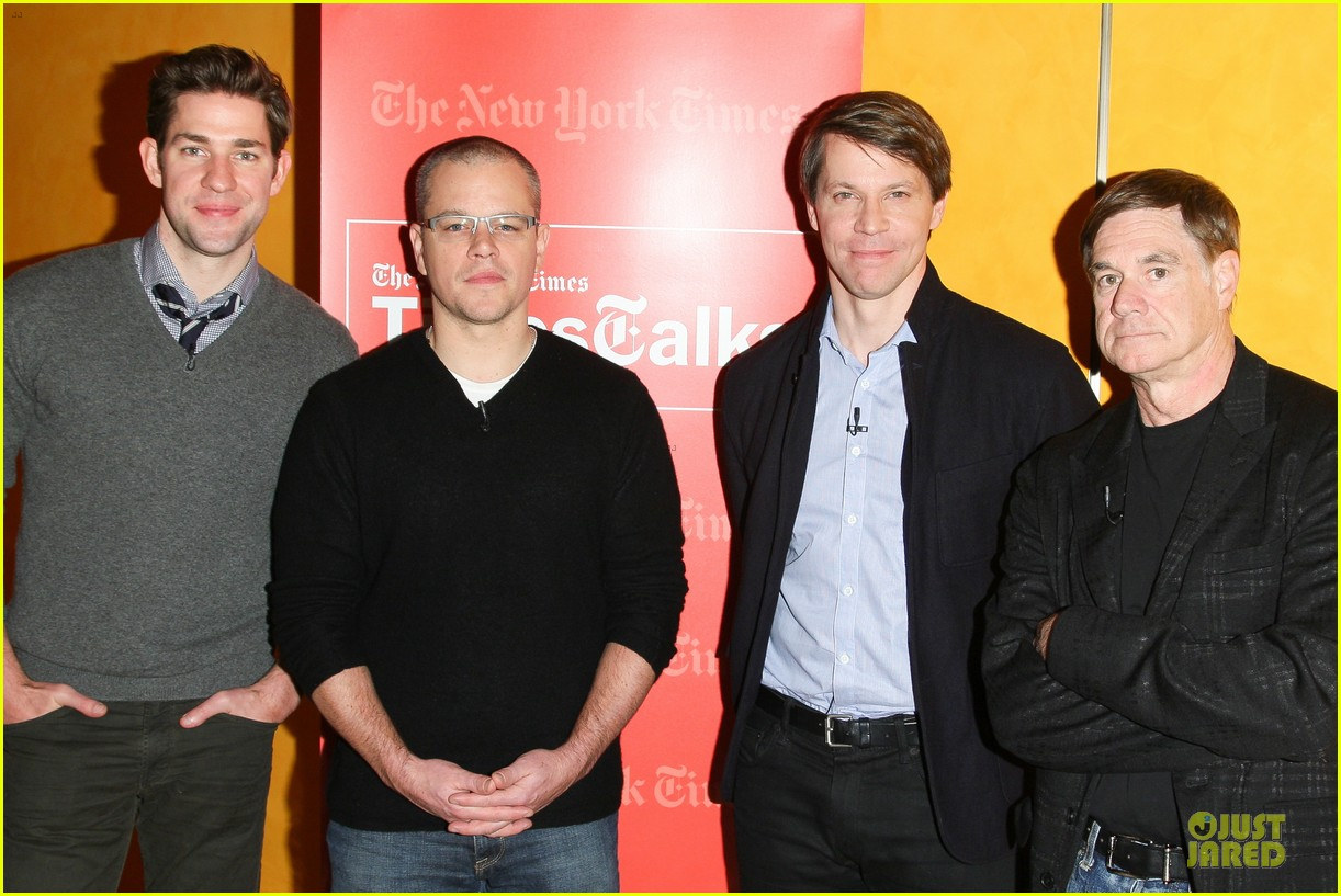 matt damon john krasinski promised land timestalks event 03