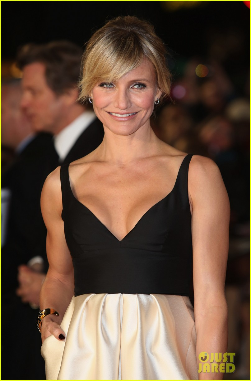 cameron diaz gambit world premiere with colin firth 10