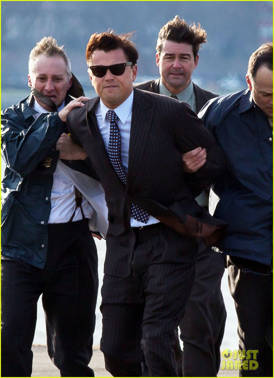 leonardo dicaprio arrested on wolf of wall street set 24