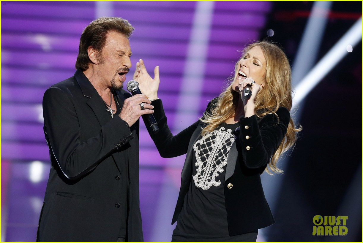 celine dion grand show duet with johnny hallyday 09