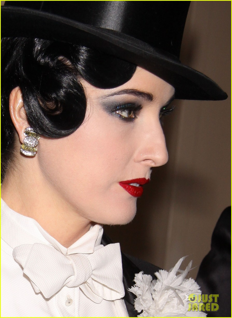 full sized photo of debra messing dita von teese nyrp halloween