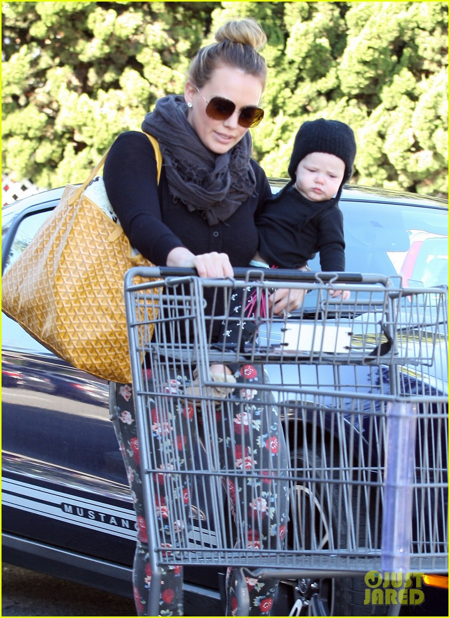 hilary duff bristol farms shopping with luca 142755863