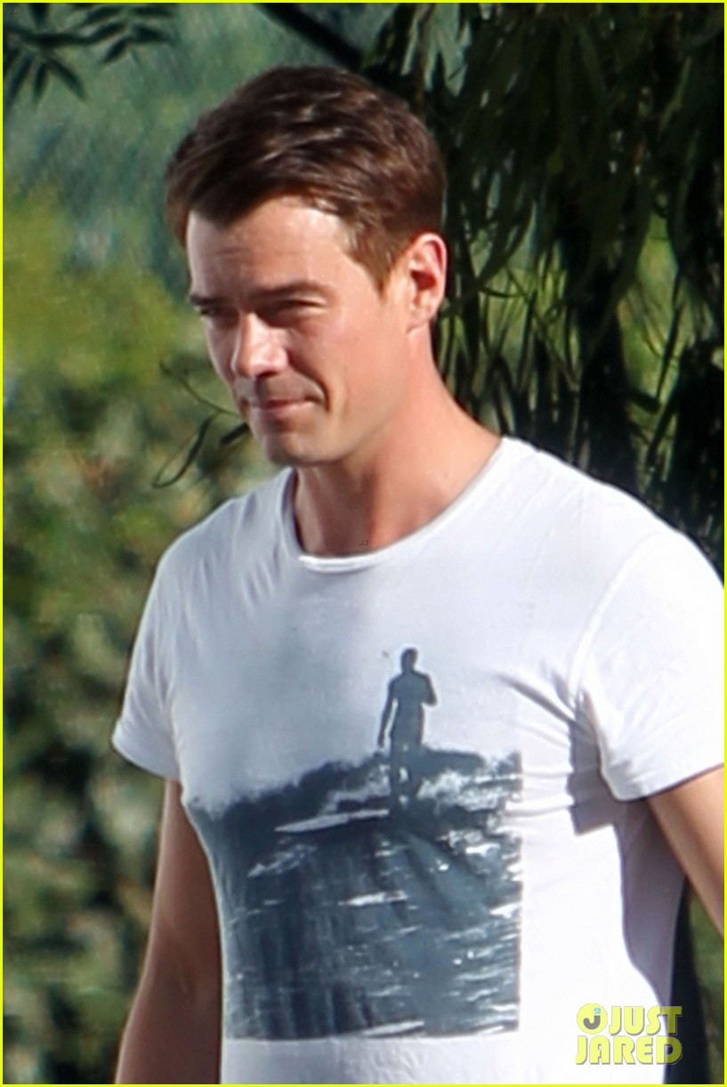 josh duhamel wears i voted sticker on youre not you set 11