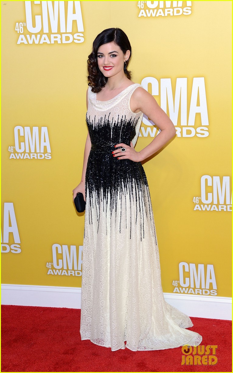 lucy hale cmas 2012 red carpet 03
