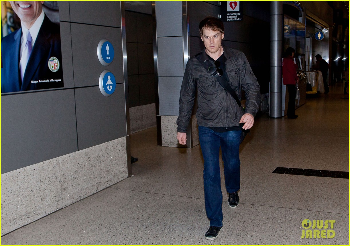 michael c hall morgan macgregor lax arrival 102764181