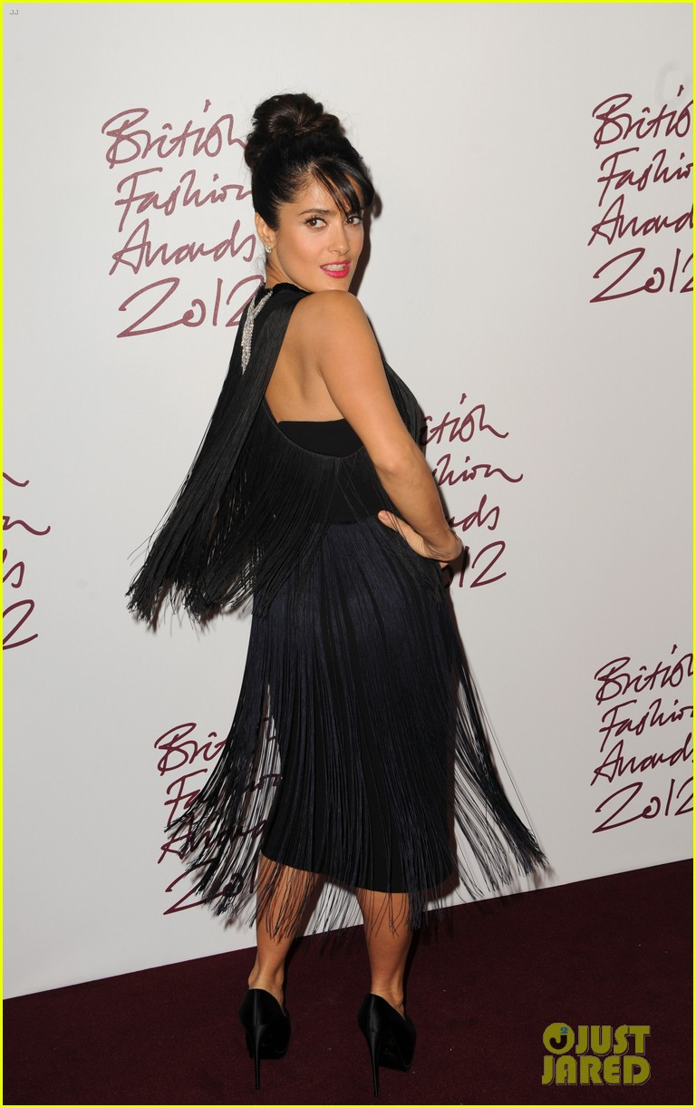 salma hayek rita ora british fashion awards 2012 13
